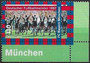 1997 Germany #1981 FC Bayern Munchen German Soccer Champions MNH