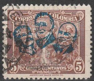 Colombia #522 F-VF Used (S4460)