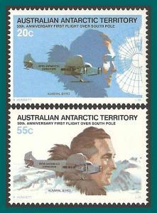 AAT 1979 First Flight, MNH L35-L36,SG35-SG36