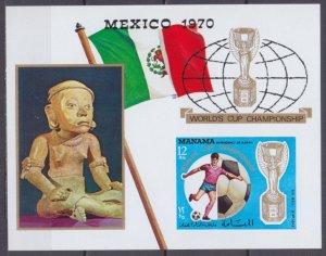1970 Manama 268/B57b 1970 FIFA World Cup in Mexico 14,00 €