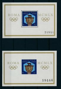 [17258] Costa Rica 1960 Olympic Games Rome Perf and Imperf sheet MNH