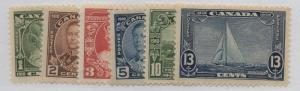 Canada Sc 211-16 1935 George V Silver Jubilee stamp set mint NH