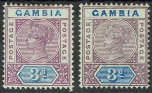 GAMBIA 1898 QV KEY TYPE 3D BOTH SHADES