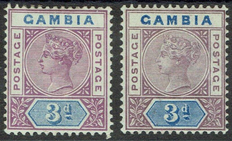 GAMBIA 1898 QV KEY TYPE 3D BOTH SHADES