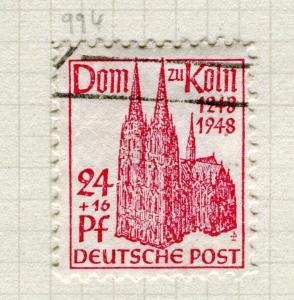 GERMANY; BERLIN 1948 British & US Zone Cologne Cathedral used 24pf. value