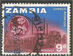 ZAMBIA , 1964, used 9p, Redwood Scott 10