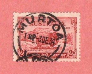 AUS SC #147 1934 Capt. Jn Macarthur w/perf flts @ TL w/SON (MURTOA VIC / 3 DE 3