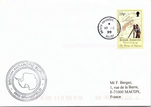 BRITISH ANTARCTIC TERRITORY ARCTIC ANTARCTIC POLAR CANCEL / CACHET #102
