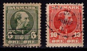 Denmark 1905-06 Christian IX Definitives, Set [Used]
