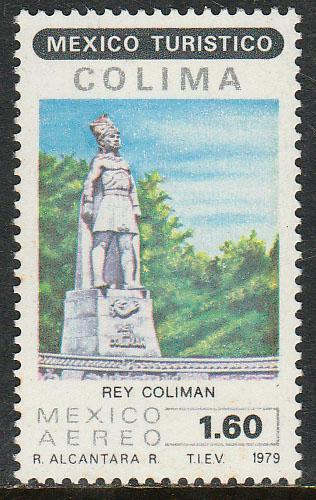MEXICO C616, Touristic sites, KING COLIMAN. MINT, NH. F-VF.