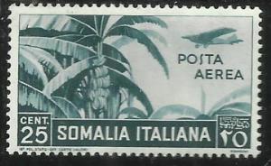 SOMALIA ITALIANA 1938 SOGGETTI VARI POSTA AEREA AIR MAIL CENT. 25 C.  MNH
