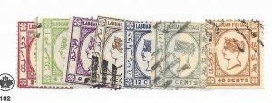 Labuan #42-48 Used - Stamp - CAT VALUE $4.70