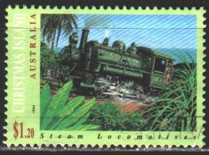 Christmas Island. 1994. 396 from the series. A train. USED.