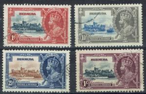 BERMUDA 1935 KGV SILVER JUBILEE SET USED