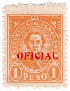 (I.B) Paraguay Postal : Official Overprint 1P