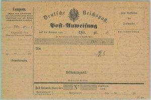89296 - GERMANY  - Postal History - STATIONERY Formular CARD Money  Order