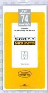 Scott Mounts Black 74mm STRIP 240mm, (Pgk. 10)(00942B)