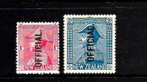 NEW ZEALAND  1926  ADMIRAL OFFICIAL SET 2 MLH    SG O111/O112