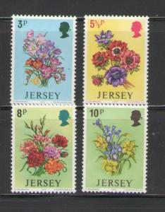 Jersey Sc 95-8 1974 Spring Flowers stamps mint NH