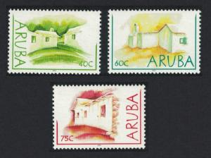 Aruba Mud Houses 3v SG#315-317
