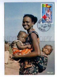 241428 SENEGAL 1964 year RED CROSS Maternite maximum card
