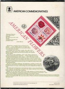 1981 Sc CP140 American Flowers USPS commemorative panel Sc 1879a