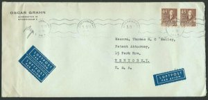 SWEDEN 1953 commercial airmail cover to USA................................60680