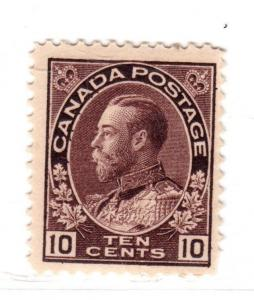 $ Canada Scott # 116 mint NH, fine-VF, short perf LR
