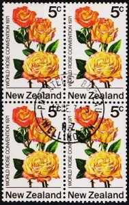 New Zealand. 1971 5c (Block of 4) S.G.968 Fine Used