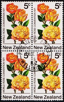 New Zealand. 1971 5c (Block of 4) S.G.968 Fine Used