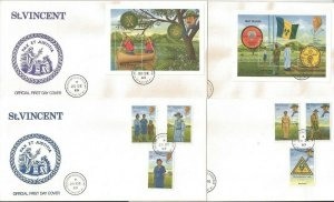1989 Scouts St Vincent Boy Girl & 2 SS FDC (4)