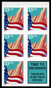 USA 3278b Mint (NH) Booklet Pane of 5+1 (Plate #V1111)