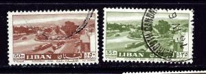 Lebanon C314-15 Used 1961 issues