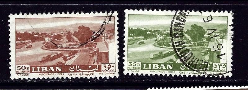 Lebanon C314-15 Used 1961 issues