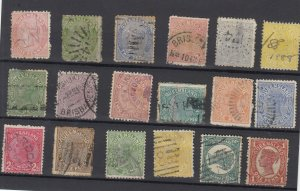 Queensland QV Collection Of 18 Fine Used JK6335