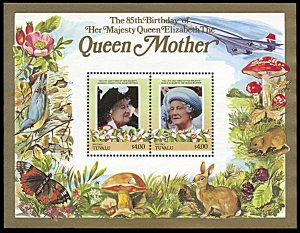 Niutao 43, MNH, Queen Mother 85th Birthday souvenir sheet