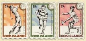 Cook Islands - Sports - 3 Stamp  Set  - 880-2