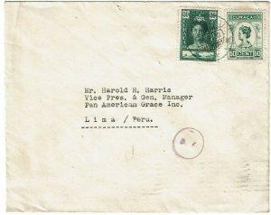 Curacao 1930 cover to PERU