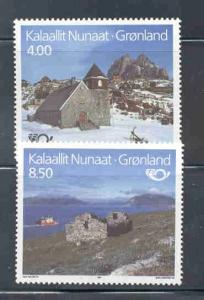 Greenland Sc 259-60 1993 Tourism stamps mint NH