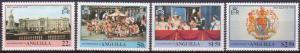 Anguilla MNH 315-8 25th Anniversary Coronation QE II 1977
