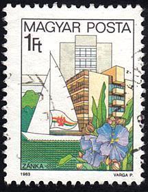 Hungary # 2827 used ~ 1fo Zanks, Lake Balaton, Boat