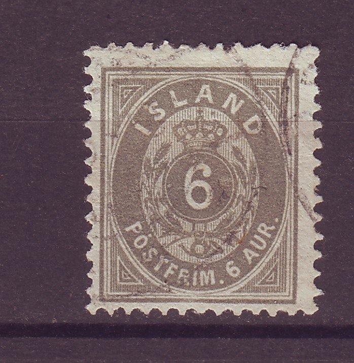 J25519 JLstamps 1896-1901 iceland used #25 numeral