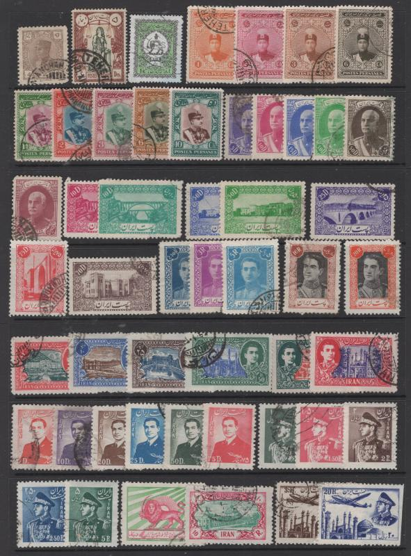 Iran - Persia 1915 - 53 Selection Singles & Short Sets 51 Stamps F