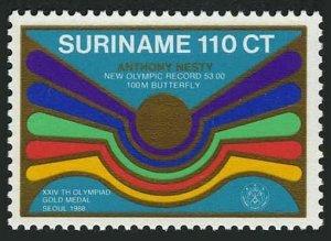 Surinam 826,MNH.Mi 1282. Anthony Nesty,swimmer,1st Olympic gold medalist,1988.