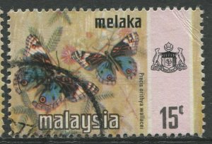 STAMP STATION PERTH Malacca #79 Butterfly Type State Crest Used  1971