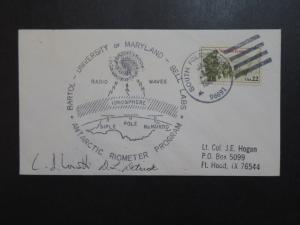 US 1986 University of Maryland Anctarctic Radio Research Cover - Z9244