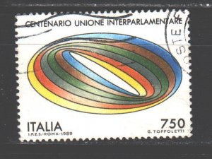 Italy. 1989. 2091. Union of Parliamentarians. USED.