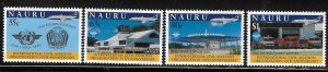 Nauru 1994 ICAO 50th anniversary Sc 411-414 MNH A1730