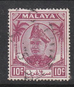 Malaya Selangor 1949 Sc 86 10c Used