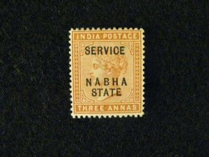 India-Nabha #O9 mint hinged  a209 1211